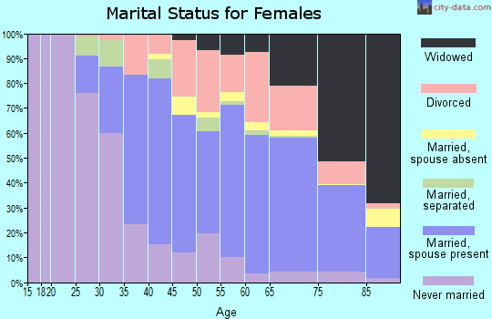 Zip code 33062 marital status for females