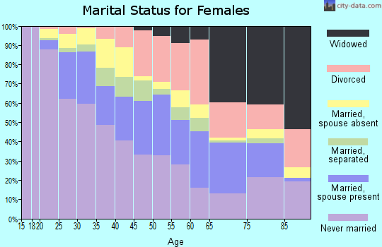 Zip code 33127 marital status for females