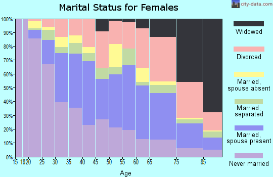 Zip code 33139 marital status for females