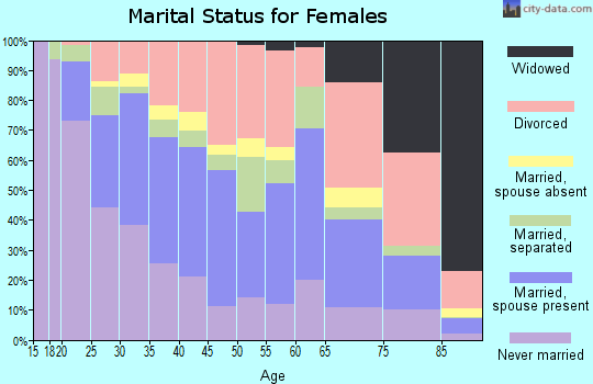 Zip code 33141 marital status for females