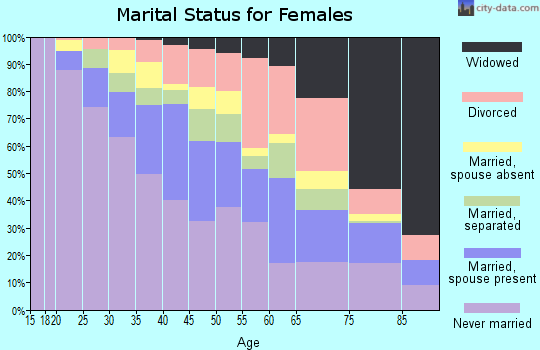 Zip code 33142 marital status for females