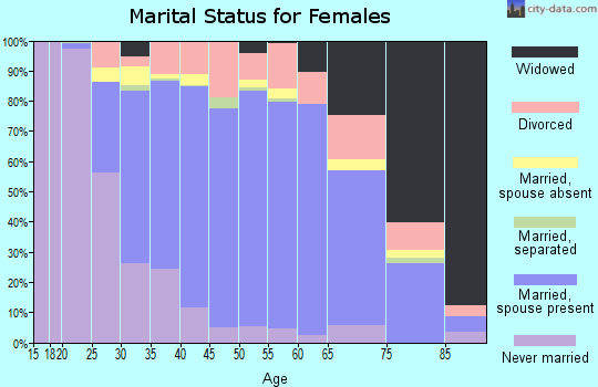 Zip code 33156 marital status for females