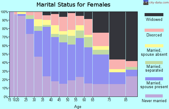 Zip code 33162 marital status for females