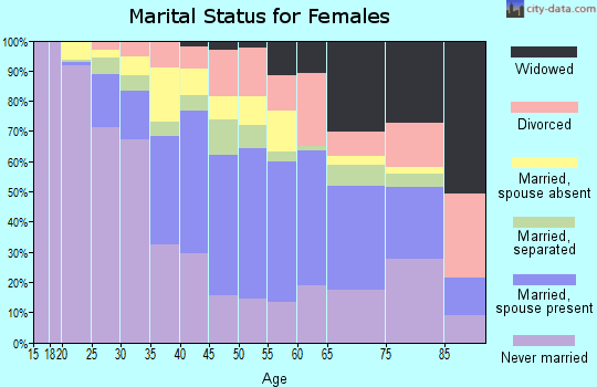 Zip code 33168 marital status for females