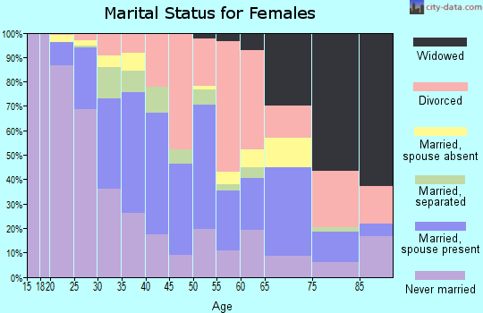 Zip code 33181 marital status for females