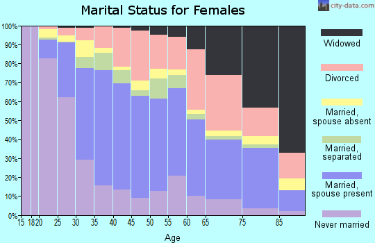 Zip code 33463 marital status for females