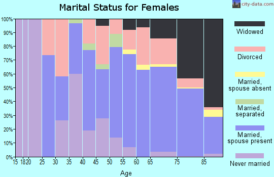 Zip code 33480 marital status for females
