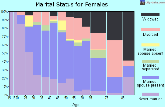 Zip code 33510 marital status for females