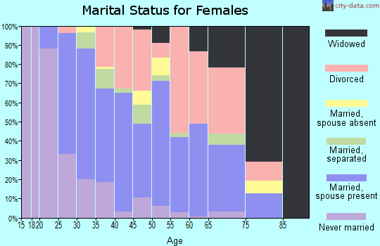 Zip code 33534 marital status for females