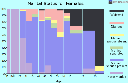 Zip code 33547 marital status for females