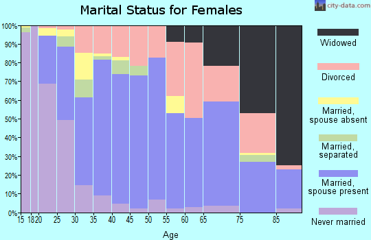 Zip code 33566 marital status for females