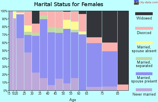 Zip code 33567 marital status for females