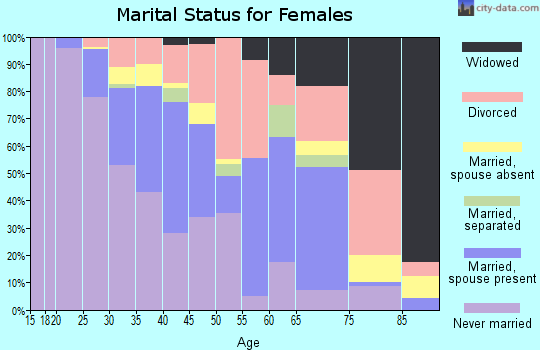 Zip code 33602 marital status for females