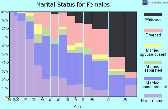 Zip code 33604 marital status for females