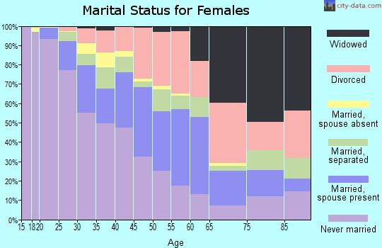 Zip code 33605 marital status for females