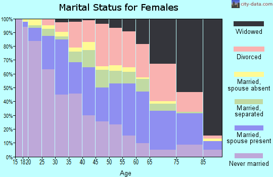 Zip code 33610 marital status for females