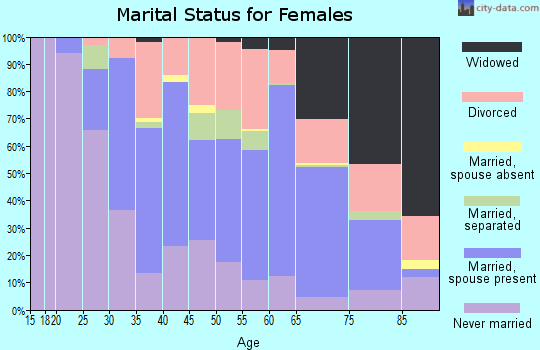 Zip code 33704 marital status for females