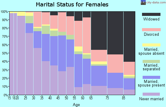 Zip code 33712 marital status for females