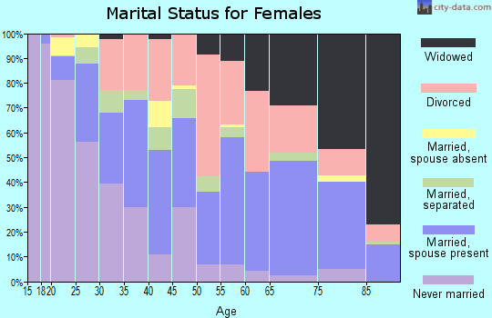 Zip code 33801 marital status for females
