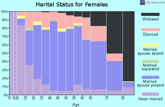 Zip code 33813 marital status for females