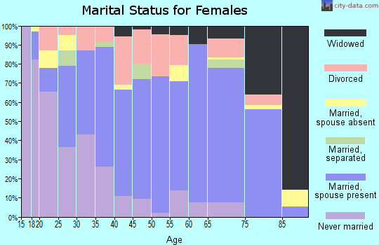 Zip code 33837 marital status for females