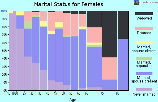 Zip code 33909 marital status for females