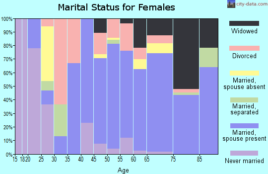 Zip code 34607 marital status for females
