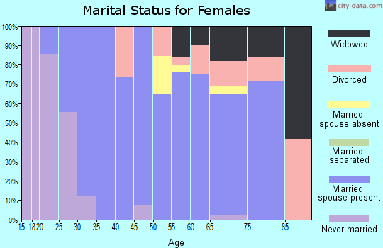 Zip code 34987 marital status for females