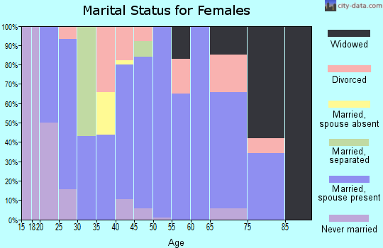 Zip code 35175 marital status for females