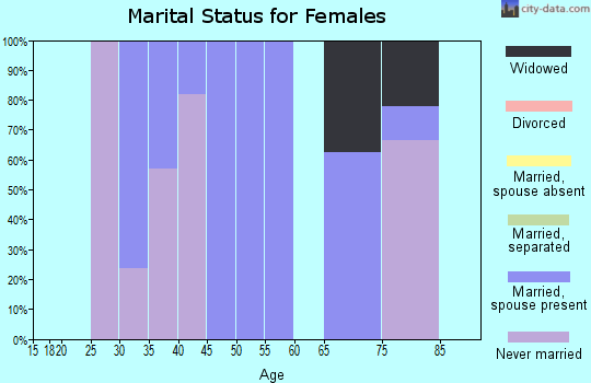 Zip code 35460 marital status for females