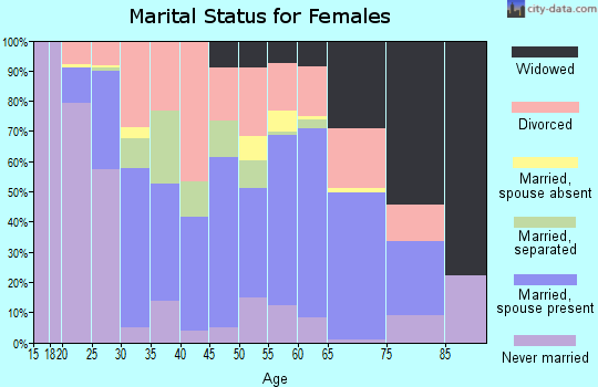 Zip code 35501 marital status for females