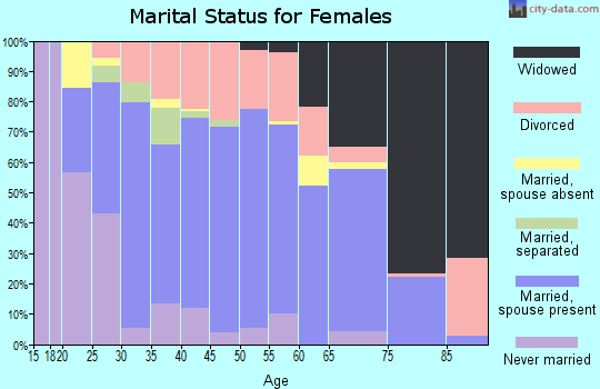 Zip code 35951 marital status for females