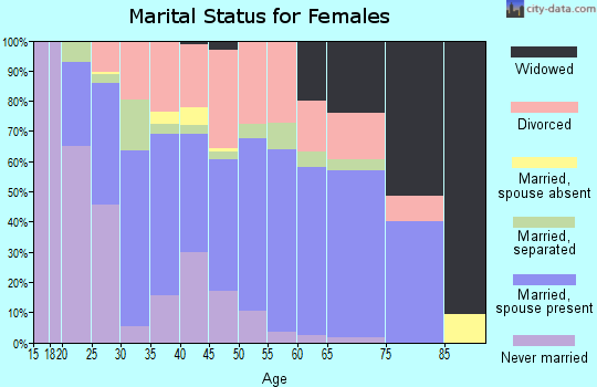 Zip code 36853 marital status for females