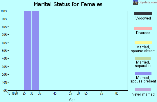 Zip code 37152 marital status for females
