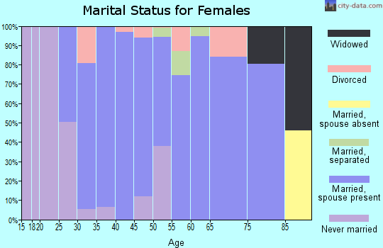 Zip code 37153 marital status for females