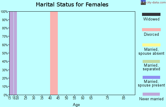 Zip code 37213 marital status for females
