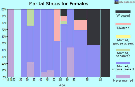 Zip code 37325 marital status for females