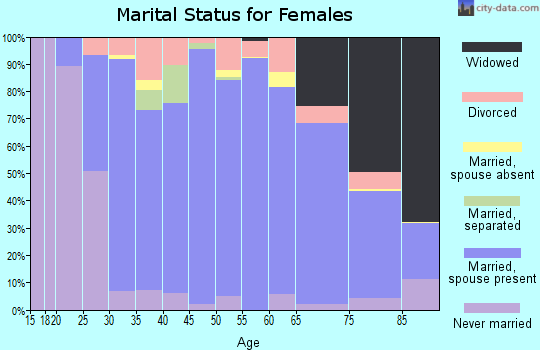 Zip code 37377 marital status for females