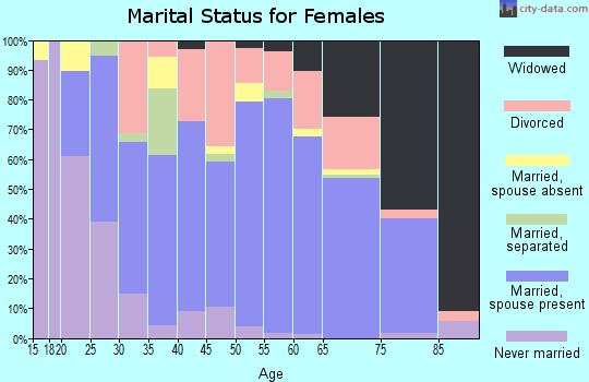 Zip code 37381 marital status for females