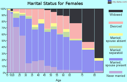 Zip code 37601 marital status for females