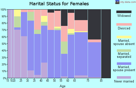 Zip code 37840 marital status for females