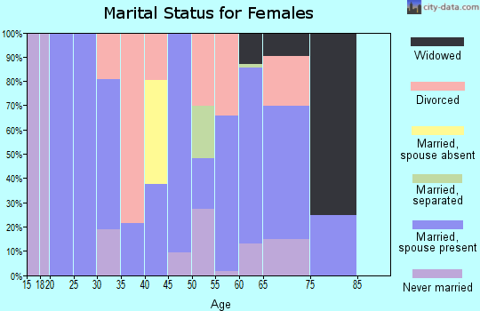 Zip code 37852 marital status for females