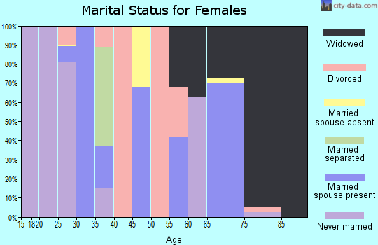 Zip code 37916 marital status for females