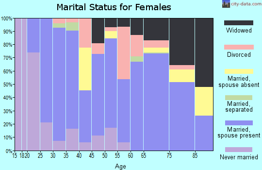 Zip code 38060 marital status for females