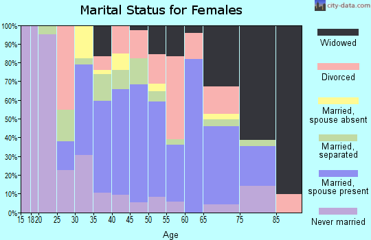 Zip code 38080 marital status for females