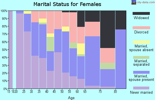 Zip code 38103 marital status for females