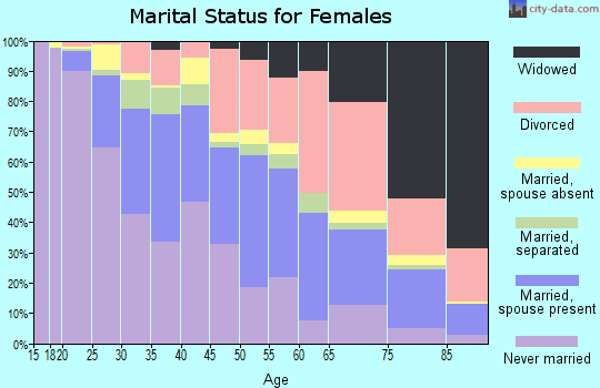 Zip code 38111 marital status for females
