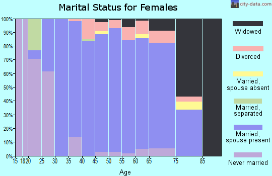 Zip code 38139 marital status for females