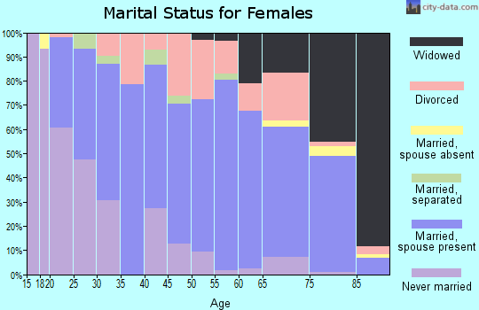 Zip code 38201 marital status for females