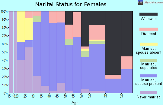 Zip code 38233 marital status for females